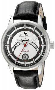 [ルシアン ピカール]Lucien Piccard Sorrento Stainless Steel Watch with Black LP-10154-02S-BC