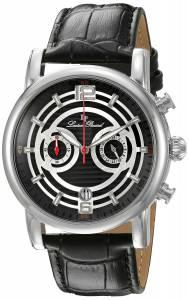 [ルシアン ピカール]Lucien Piccard Stainless Steel Watch with Black Leather Band LP-14084-01