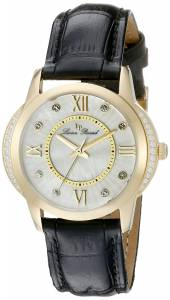 [ルシアン ピカール]Lucien Piccard Dalida Analog Display Quartz Black Watch LP-40001-YG-02S