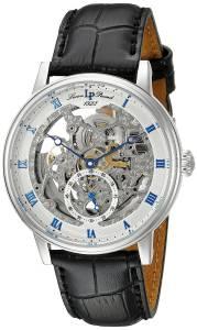 [ルシアン ピカール]Lucien Piccard Stainless Steel Automatic Watch with Black LP-40013A-02S