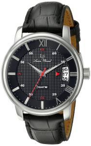 [ルシアン ピカール]Lucien Piccard Amici Stainless Steel Watch with Black Leather LP-40019-01