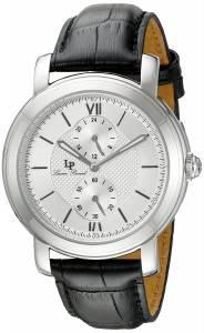 [ルシアン ピカール]Lucien Piccard Spiga Stainless Steel Watch with Black LP-40026-02S