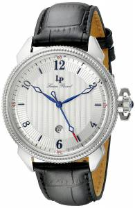 [ルシアン ピカール]Lucien Piccard Trevi Stainless Steel Watch with Black LP-40053-02S