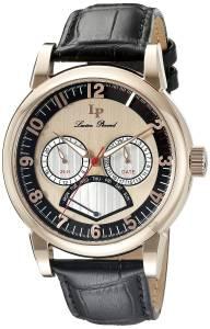 [ルシアン ピカール]Lucien Piccard  Analog Display Quartz Black Watch LP-15051-RG-01