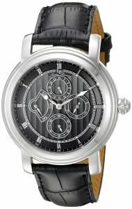 [ルシアン ピカール]Lucien Piccard Valarta Stainless Steel Watch with Black LP-40009-01
