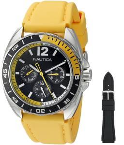 [ノーティカ]Nautica  Sport Ring Gift Set Analog Display Quartz Yellow Watch NAD11522G
