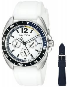 [ノーティカ]Nautica  Sport Ring Gift Set Analog Display Quartz White Watch NAD11521G メンズ