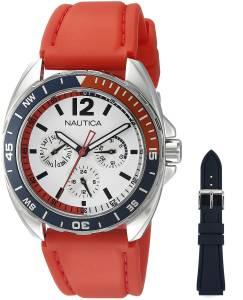[ノーティカ]Nautica  Sport Ring Gift Set Analog Display Quartz Red Watch NAD11523G メンズ