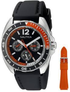 [ノーティカ]Nautica  Sport Ring Gift Set Analog Display Quartz Black Watch NAD11520G メンズ