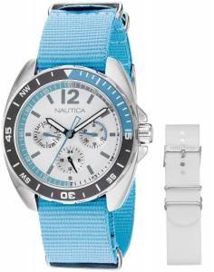 [ノーティカ]Nautica  Sport Ring Gift Set Analog Display Quartz Blue Watch NAD11526M