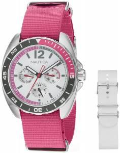 [ノーティカ]Nautica  Sport Ring Gift Set Analog Display Quartz Pink Watch NAD11524M