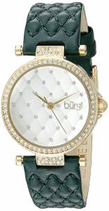 [バージ]Burgi  BUR154 Round White Dial Three Hand Quartz Gold Tone Strap Watch BUR154GN