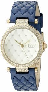 [バージ]Burgi  BUR154 Round White Dial Three Hand Quartz Gold Tone Strap Watch BUR154BU