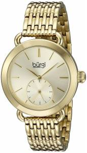 [バージ]Burgi  Round Gold Dial Two Hand Quartz Gold Bracelet Watch BUR153YG レディース