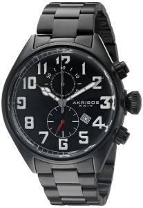 [アクリボス XXIV]Akribos XXIV Round Black Dial Chronograph Quartz Movement Stainless AK853BK
