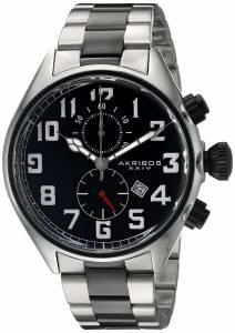 [アクリボス XXIV]Akribos XXIV Round Black Dial Chronograph Quartz Movement Stainless AK853TTB