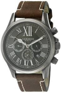[アクリボス XXIV]Akribos XXIV Round Black Dial Three Hand Quartz Stainless Steel Strap AK897SSB