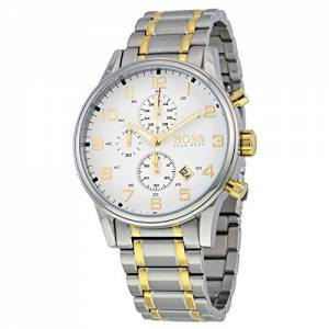 [ヒューゴボス]HUGO BOSS Aeroliner Gold / Silver Stainless Steel Analog Quartz 1513236