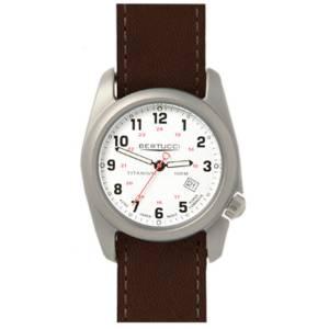 [ベルトゥッチ]bertucci 腕時計 Brown Leather Strap Band White Dial Watch 12088