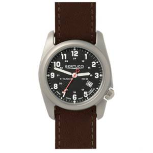 [ベルトゥッチ]bertucci 腕時計 Brown Leather Strap Band Black Dial Watch 12087