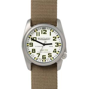 [ベルトゥッチ]bertucci 腕時計 Dark Khaki Nylon Strap Band White Dial Watch 13451