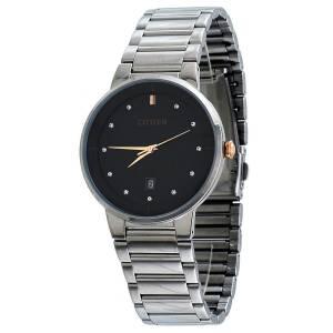 [シチズン]Citizen  Black Dial Stainless Steel Quartz Analog Watch CZ BI501458E CZ BI5014-58E