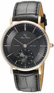 [ルシアン ピカール]Lucien Piccard  Taverna Analog Display Quartz Black Watch 40003-RG-01