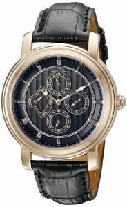 [ルシアン ピカール]Lucien Piccard  Valarta Analog Display Quartz Black Watch 40009-RG-01