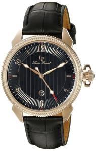 [ルシアン ピカール]Lucien Piccard  Trevi Analog Display Quartz Black Watch LP-40053-RG-01