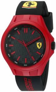 [フェラーリ]Ferrari  0830286 Pit Crew Analog Display Japanese Quartz Black Watch 830287