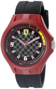 [フェラーリ]Ferrari  0830279 Pit Crew Analog Display Japanese Quartz Black Watch 830284