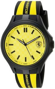 [フェラーリ]Ferrari  0840006 Pit Crew Analog Display Japanese Quartz Black Watch 830285