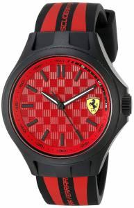 [フェラーリ]Ferrari  0830282 Pit Crew Analog Display Japanese Quartz Black Watch 840009