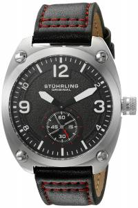 [ステューリングオリジナル]Stuhrling Original  Analog Display Quartz Black Watch 581.02