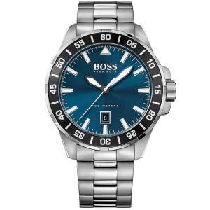 [ヒューゴボス]HUGO BOSS  Deep Ocean Stainless Steel Bracelet Watch 48mm 1513230 メンズ
