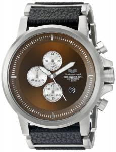 [ベスタル]Vestal  Plexi Leather Analog Display Quartz Silver Watch PLCL03 ユニセックス