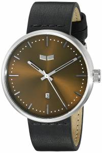 [ベスタル]Vestal Roosevelt Leather Analog Display Quartz Black Watch RST3L03 RST3L03