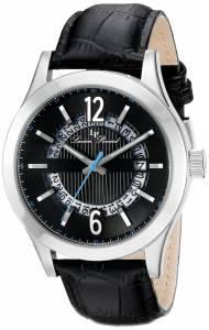 [ルシアン ピカール]Lucien Piccard  Oxford Analog Display Quartz Black Watch LP-40020-01