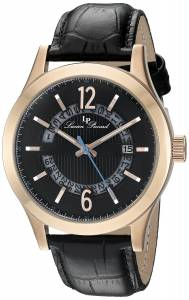 [ルシアン ピカール]Lucien Piccard  Oxford Analog Display Quartz Black Watch LP-40020-RG-01