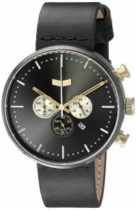 [ベスタル]Vestal Roosevelt Chrono Leather Analog Display Quartz Black Watch RSTCL02 RSTCL02