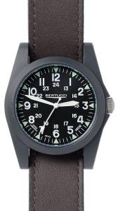[ベルトゥッチ]bertucci A3P Sportsman Vintage Field Black / Brown Leather Analog Quartz 13354