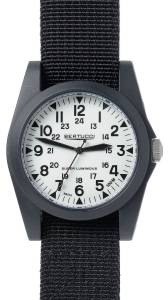[ベルトゥッチ]bertucci A3P Sportsman Vintage Field White / Black Nylon Analog Quartz 13355