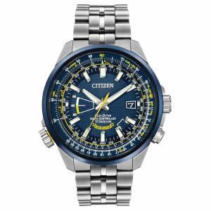 [シチズン]Citizen 腕時計 Strainless Steel Bracelet Band Blue Dial Watch CB0147-59L メンズ