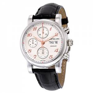 [モンブラン]MONTBLANC Star Traditional Chronograph Automatic Silver Dial Brown Leather 113847
